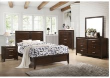1006 Agathis Full Bed with Dresser & Mirror