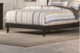 Lawler Footboard & Rails - Full - Brown Faux Leather