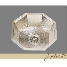 Jupiter - Octagonal Prep/bar Sink - Hammertone Pattern - Antique Brass