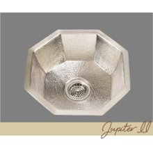Jupiter - Octagonal Prep/bar Sink - Hammertone Pattern - Antique Brass