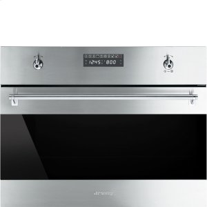 "Smeg60CM (Approx. 24"") ""Classic"" Built-in Speed Oven with 1000W Microwave, Fingerprint-Proof Stainless Steel"