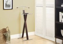 BEDROOM ACCENT - VALET - CAPPUCCINO / CHROME METAL