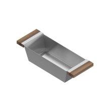 Bin 205226 - Stainless steel sink accessory , Walnut