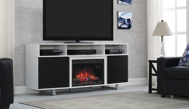 Bello This Stylish, Contemporary TV Stand Accommodates Most Flat Screen TVs  Up To.