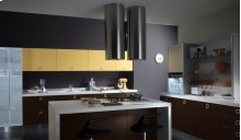 """Cylindra Isola 15"""" Stainless,Glass Hood"""