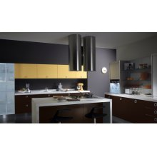 "Cylindra Isola 15"" Stainless,Glass Hood"