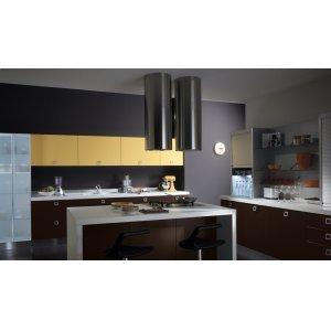 "FaberCylindra Isola 15"" Stainless,Glass Hood"