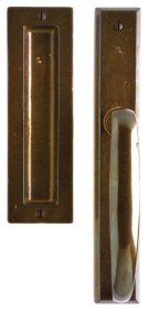 "Rectangular Lift & Slide Door Set - 1 3/4"" x 11"" Silicon Bronze Brushed Product Image"