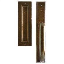 "Rectangular Lift & Slide Door Set - 1 3/4"" x 11"" Silicon Bronze Brushed"