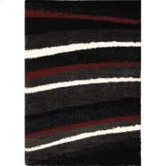Shaggy 283 Charcoal Red 4 x 6 Product Image