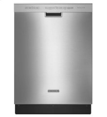 KitchenAid® 24-Inch 4-Cycle/6-Option Dishwasher, Pocket Handle - Stainless Steel