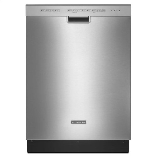 KitchenAid® 24-Inch 4-Cycle/6-Option Dishwasher, Pocket Handle - Black- IN STORE ONLY (FLOOR MODEL)
