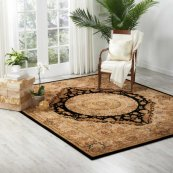 Nourison 2000 2233 Blk Rectangle Rug 27'' X 18''