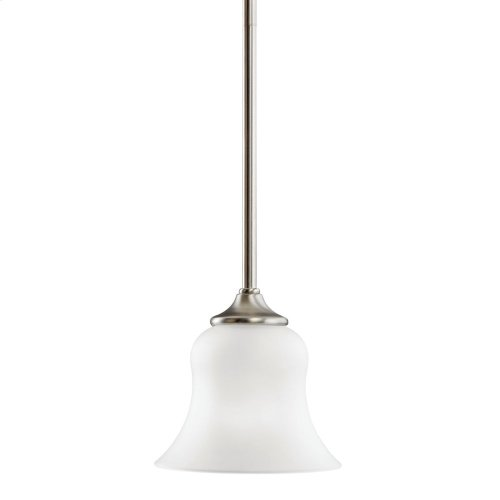 Wedgeport 1 Light Mini Pendant Brushed Nickel