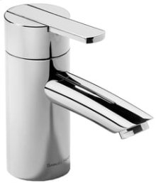 "Chrome Plate Single lever lavatory mixer with pop-up waste, 5"" spout length"