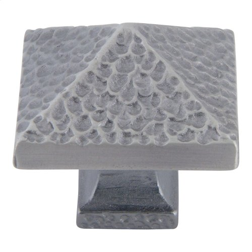 Craftsman Square Knob 1 1/4 Inch - Pewter