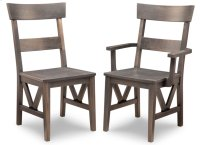 Chattanooga Side Chair With Fabric/Bonded Leather Seat Product Image