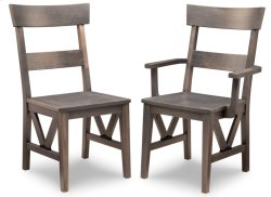 Chattanooga Side Chair With Leather Seat