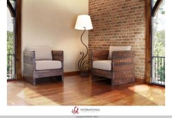 Solid wood Chair w/arm rests, Seat & Back cushions Product Image