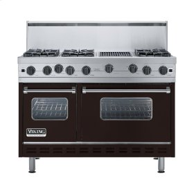 "Chocolate 48"" Open Burner Range - VGIC (48"" wide, six burners 12"" wide char-grill)"