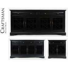 """Craftsman 60"""" Media Unit - Antique Black"""