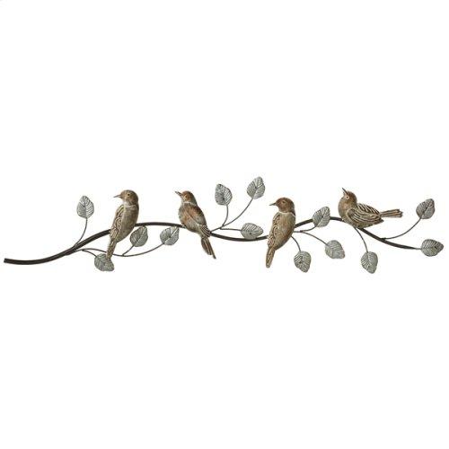 Galvanized Patina Birds on Branch Wall Decor