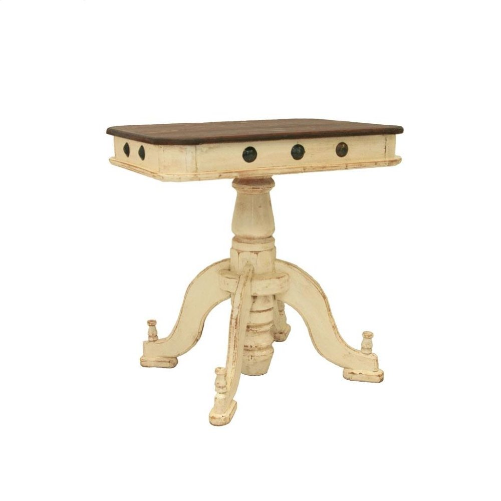 White/Walnut Francis Recepcion End Table