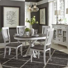 5 Piece Pedestal Table Set