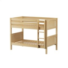 Low Bunk w/ Straight Ladder : Twin : Natural : Panel