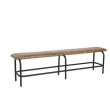Bench 180x34x49 cm MOKAS antique brown