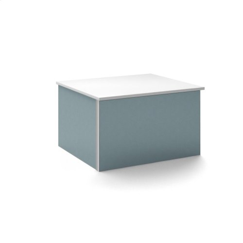 "V14 24-1/4"" X 14"" X 21"" Wall-mount Vanity In Ocean With Push-to-open Full Storage Drawer and Night Light"