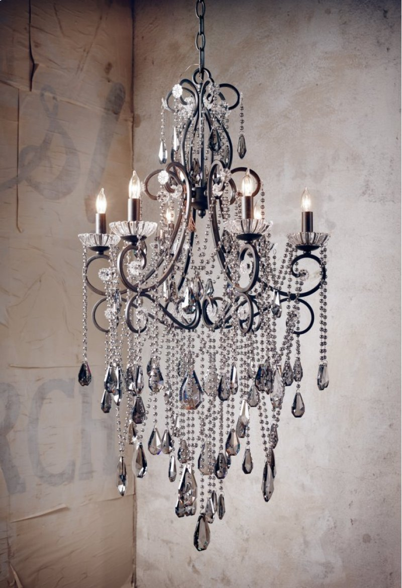 Cirdz1 in by four hands in tillamook or charlotte 6 light charlotte 6 light chandelier smoked arubaitofo Image collections