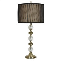 "Crestview 29""H Crystal And Metal Rotalton Table Lamp"