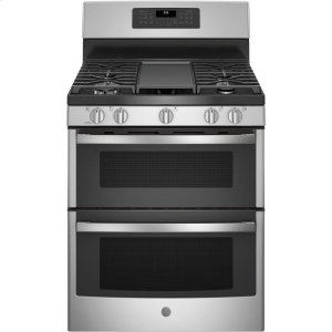 """GE®30"""" Free-Standing Gas Double Oven Convection Range"""