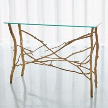 Twig Console-Gold Leaf
