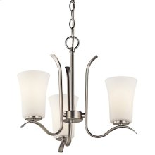 Armida 3 Light Mini Chandelier with LED Bulbs Brushed Nickel