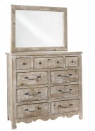 Tall Dresser \u0026 Mirror - Chalk Finish Product Image
