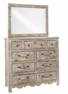 Tall Dresser \u0026 Mirror - Chalk Finish