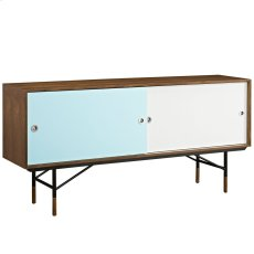 Envoy Walnut Stand in Walnut White Product Image