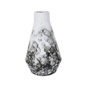 "Ceramic 9"" Beaker Vase Black/white"