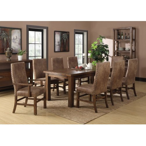 Emerald Home Chambers Creek 10-piece Dining Set Brown D412-10-10pcset1-k
