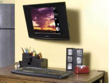 """Full-Motion Wall Mount for flat-panel TVs and monitors up to 27"""" - extends 8"""" / 20.32 cm"""