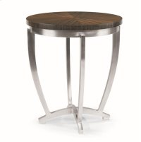 Omni Chairside Table With Metal Base Product Image