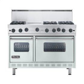 "Sea Glass 48"" Open Burner Commercial Depth Range - VGRC (48"" wide, six burners 12"" wide griddle/simmer plate)"