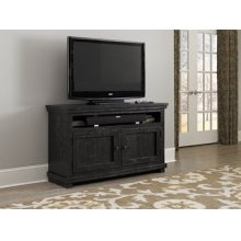 "54"" Console - Distressed Black Finish"