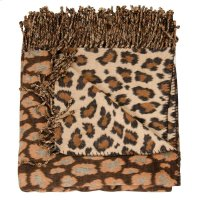 "Throw Sz005 Brown/beige 50"" X 70"" Throw Blankets Product Image"