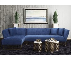 Caprice Navy Velvet LAF Sectional Product Image