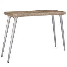 Taros Console Table in Reclaimed and Chrome Legs
