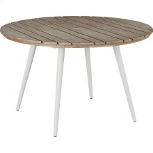 Essentials Dining Round Dining Table with Embossed Alumininum Top