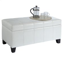 Bella Storage Ottoman in White